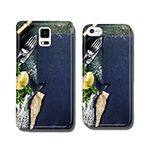 Food background with Fish and Wine cell phone cover case Samsung S6