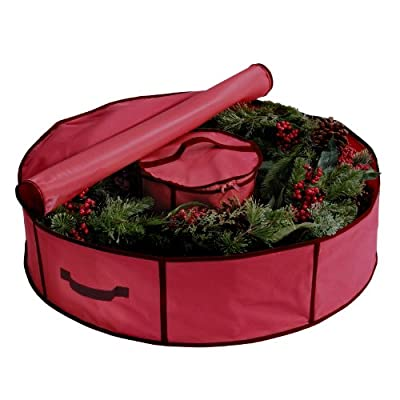 "30"" Holiday Wreath Bag with Center Storage by Richards Homewares"
