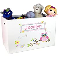Personalized Owl Toy Box