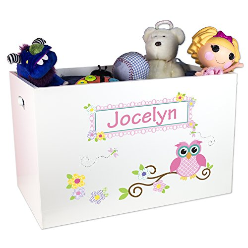 Personalized Owl Toy Box by MyBambino