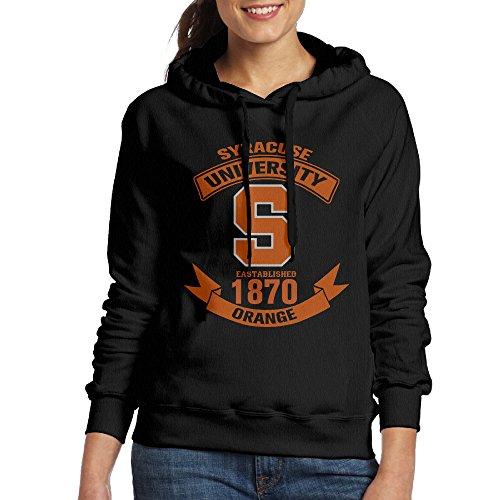 FUOALF Women's Pullover Syracuse University Football Hoodie Sweatshirts Black - Syracuse Destiny