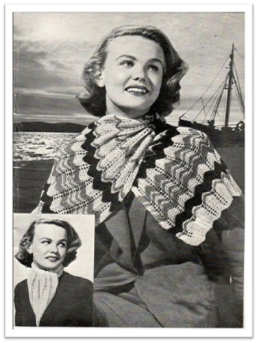 #2235 FEATHER AND FAN SCARF VINTAGE KNITTING PATTERN - Feather And Fan Knitting Pattern