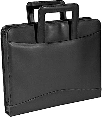 978c4c00554 Amazon.com : Royce Leather Zip Around Binder Padfolio, Black, One Size :  Briefcases : Office Products