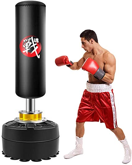 Boxing Punch Exercise Bag Ball Speeds Bag Training Accessries Tool for Adult Men Women LeKu Punching Bag with Stand Set