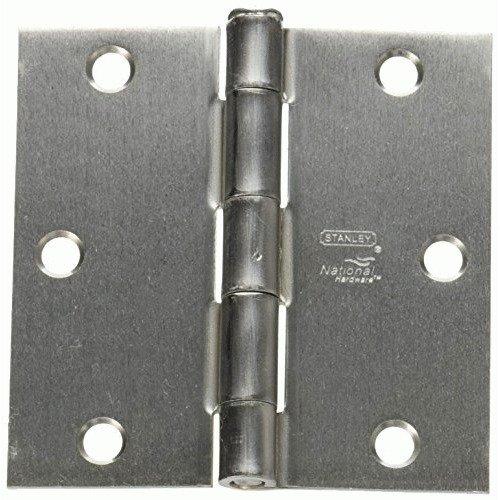 NATIONAL MFG/SPECTRUM BRANDS HHI N830-239 Door Hinge, 3-1/2-Inch, Satin Chrome - Satin Chrome Square Corner