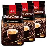 Melitta Coffee BellaCrema Espresso, Whole Beans, Pack of 3, 3 x 1000g
