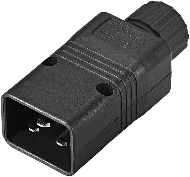 uxcell AC 110-250V 10A Male IEC320 C20 Power Socket Adapter Receptacle Connector