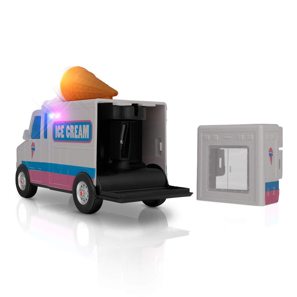Amazeko Electric Pencil Sharpener with Ice Cream Lights & Music for Kids. Includes Carbon Steel, Electronic Sharpener, Batteries, Pencil. Perfect Gift for Easter, Graduation, and Birthdays by Amazeko (Image #5)