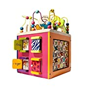 B. toys by Battat B. Zany Zoo (Wooden Activity Cube)