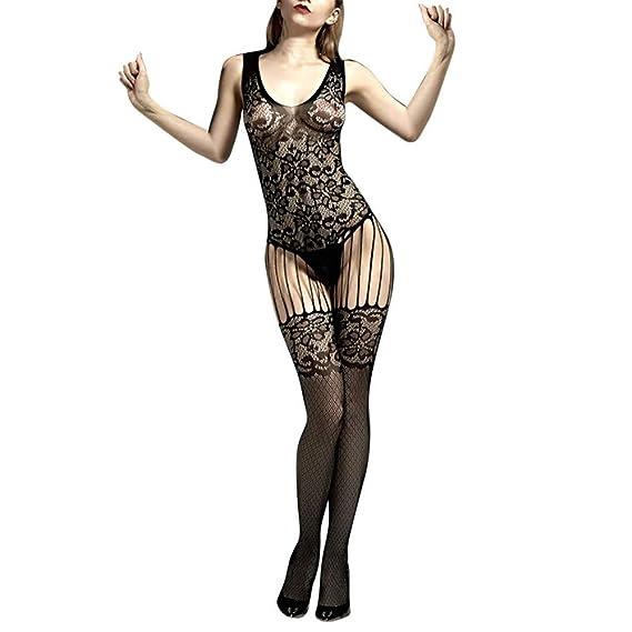 Amazon.com: Quelife Sexy Fishnet Stocking Bodysuit Net ...