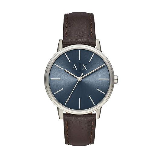 A/X Armani Exchange - Reloj de Pulsera para Hombre (Piel marrón)
