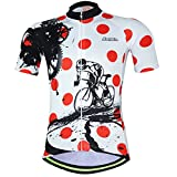 Men Cycling Jerseys Yellow Shirts Breathable Quick Dry Jacket Short Sleeves Suit Aogda Team Cycling Clothing White