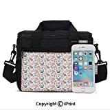 Girls Women Casual Lunch Bags Popular English Icons Collection Country Culture Tourist Attraction
