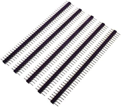 Pin Header 40 Way Straight 0.1 Pitch Pack 5 Pin Strip 2.54mm