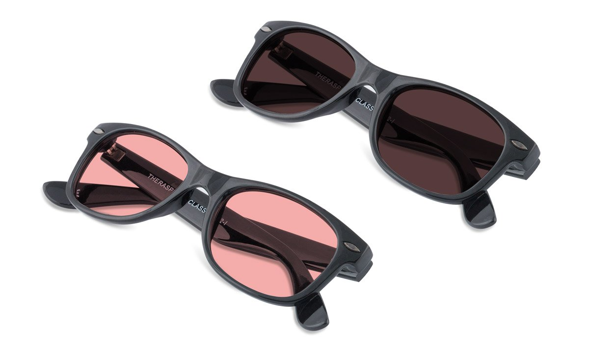 TheraSpecs Classic Migraine Glasses for Light Sensitivity, Photophobia and Fluorescent Lights | Unisex | Indoor and Polarized Outdoor Lenses