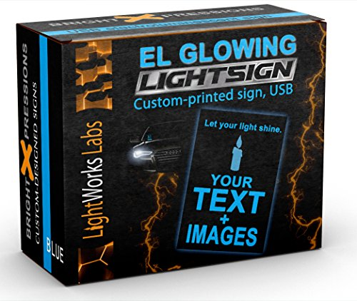 Custom Glow Light Sign - Design Your Own Personalized Sign for Uber or Any Delivery or ()