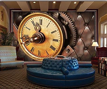Malilove Custom 3D Photo Wallpaper Retro Clock Mural Ktv Bar Living Room Bedroom Coffee Shop