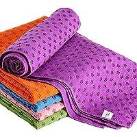 Ivy Yoga handduk halkfri – mikrofiber yogahandduk snabbtorkande – yogahandduk halkfri idealisk för matta, varm yoga, 183…