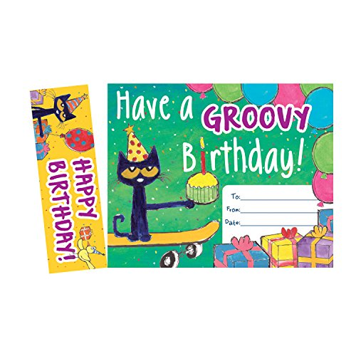 Edupress Pete the Cat Groovy Birthday Bookmark Awards (EP60327)