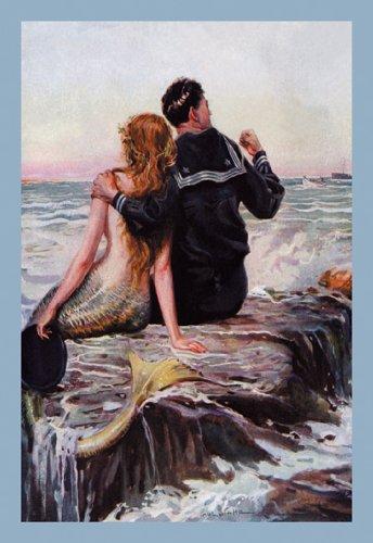Sailor and Mermaid Art Poster