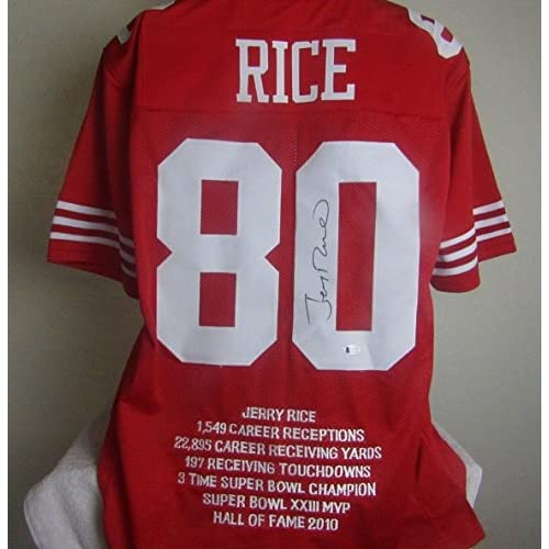 promo code 9b09b 696f9 JERRY RICE AUTOGRAPHED SIGNED SAN FRANCISCO 49ers JERSEY ...