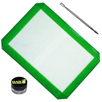 LARGE Oil Mat Concentrate Pad Non-stick Surface 710 with 1 Jars + Pick by Dab Wizard