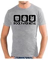 Touchlines Herren  Slimfit T-Shirt Stein Papier Rock  Heavy Metal