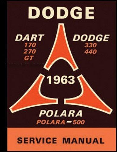 1963 DODGE FACTORY REPAIR SHOP & SERVICE MANUAL - Covers Dart 170, Dart 270, Dart GT, Dodge 330, Dodge 440, Polara 63 pdf