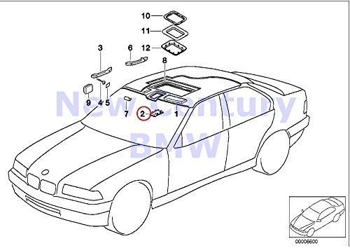 BMW Genuine Headlining / Handle Cover Sliding Roof Motor Anthracite 318i 318ti 320i 325i 328i M3 3.2