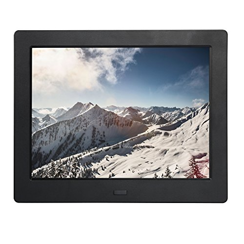Digital Picture Photo Frame 8 Inch IPS Widescreen Electronic Picture Frame High Definition(1080P) with LCD Display 1024×768,No USB/SD Included,with Wireless Remote Control(Black)