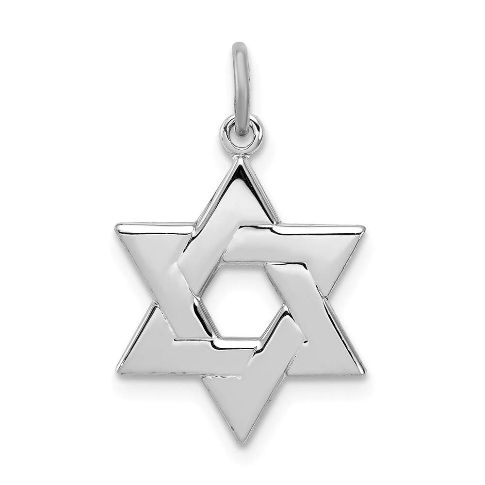 Jewel Tie Sterling Silver Star of David Charm 0.71 in x 0.55 in