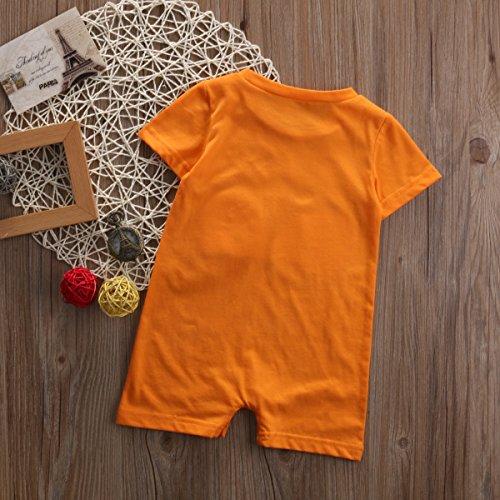 YAZAD Cute Infant Baby Girl Boy Short Sleeve Fox Romper Jumpsuit Summer Bodysuit Outfit