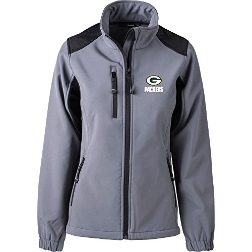 Dunbrooke Apparel NFL Green Bay Packers Women's Softshell Jacket, Medium, Black
