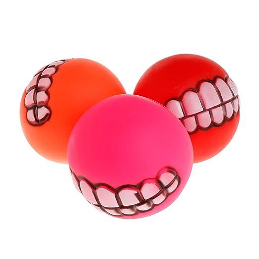 yanhonin 1 pc goma bola grincant dientes drôle Fantasía pelotas ...