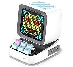 Divoom Ditoo Pixel Art Altavoz Bluetooth Multifuncional, Altavoz portátil Retro con Pantalla LED RGB, Teclado mecánico, Reloj Despertador Inteligente, Compatible con Tarjeta TF y Radio (Black): Amazon.es: Electrónica