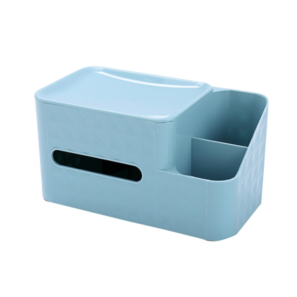 MKKM Multifunctional Book Box Tissue Box Home Living Room Coffee Table Remote Control Storage Box European Creative Napkin,Blue,Average code