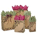 Tuscan Harvest Paper Shopping Bags - Assortment of 5 sizes - 300 Pack