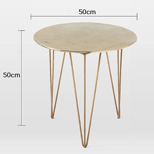 Amazon.com: Mesa de centro pequeña mesa mini mesa de hierro ...
