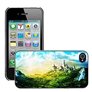 Super Stellar Slim PC Hard Case Cover Skin Armor Shell Protection // M00049408 creative charming aero castle // Apple iPhone 4 4S