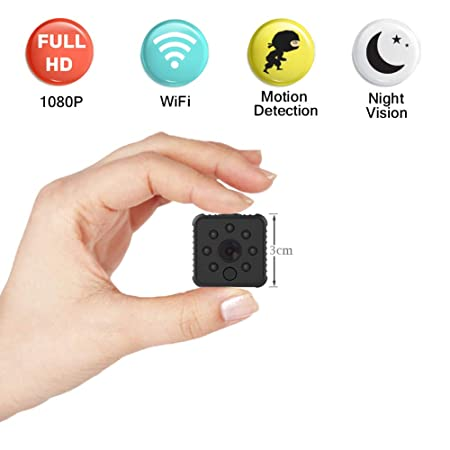 Mini Spy Camera 1080P Wireless Hidden Camera with Audio HD Small Nanny Camera with Night Vision and Motion Detection for Office and Home Security