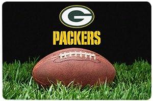 NFL Green Bay Packers Classic Football Pet Bowl Mat, Large