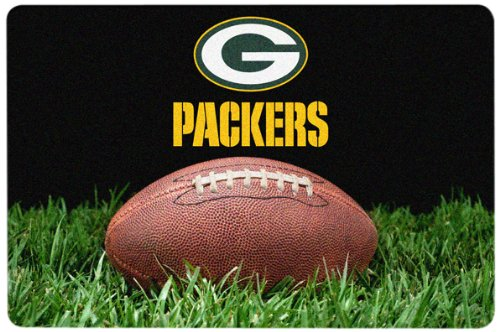 NFL Green Bay Packers Classic Football Pet Bowl Mat, Large