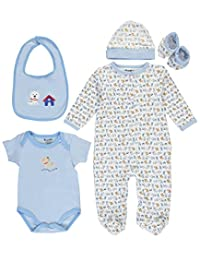 """Sweet & Soft Baby Boys' """"See Spot Go"""" 5-Piece Layette Set"""
