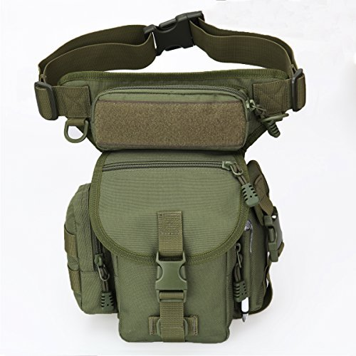 l Fanny Pack Walking Man Military Drop Leg Bag Tool Thigh EDC Waist Belt Pack Leg Pouch Paintball Airsoft Motorcycle Riding Camera Messenger Bag Purse for Men Tactical iphone Case ()