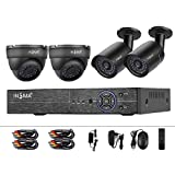 720p DVR Kit CCTV Monitor Security Camera System HD TVI DVR Reorder Surveillance Cameras Bullet Camera Dome Camera Motion Detection IR Night Vision IP66 Weatherproof Remote View, (No Hard Drive) INSMA