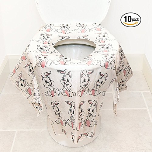 Kids Disposable Toilet Seat Covers Potty Training 10 Piece Bib Set Home or Travel