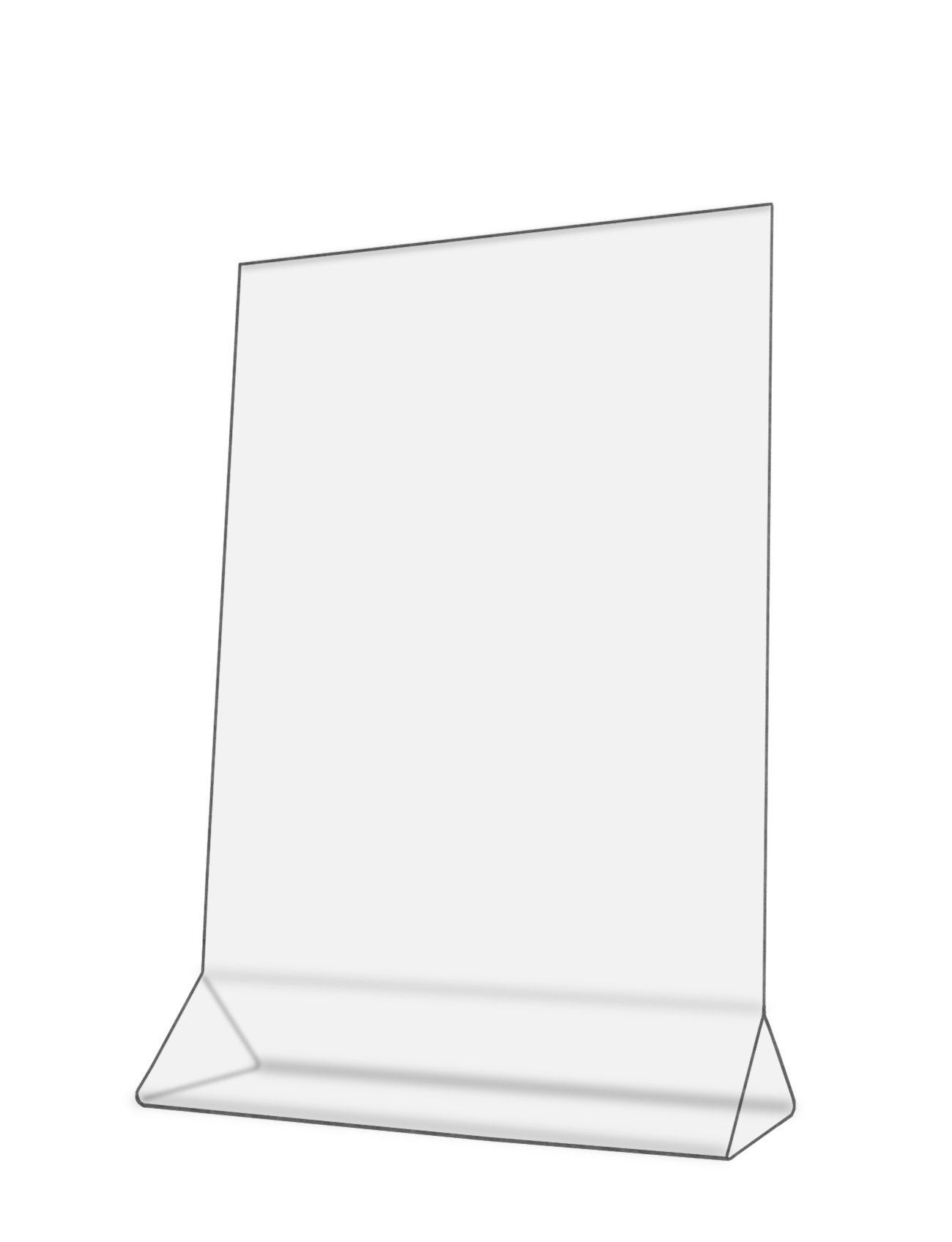 Displays Sign Holder 3 Pack Durable Clear Thick Acrylic Menu & Brochure Stand Double Sided & Top Loading Ad Frame For Restaurants Office Tabletop Leaflets (3, 11''W x 14''H)