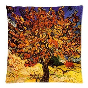 - Vincent Van Gogh The Mulberry Tree C 1889 Custom Zippered Decorative Throw Pillow Cases for Couch 18x18 Inch