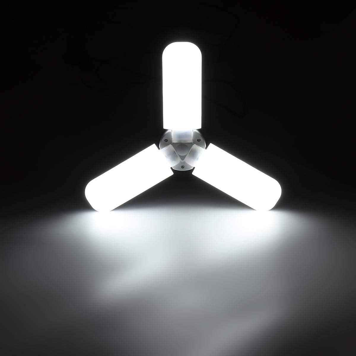 Luz Ventilador de Techo E27 36W Plegable Bombilla LED lámpara de la Noche Las Luces for el Uso en el hogar Pasillo Interior lámpara candelabro
