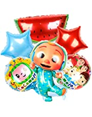 6PCS cocomelon aluminum foil balloon is suitable for patrol theme party, birthday party and baby party decoration